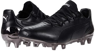 Puma King Platinum FG/AG Black White) Men's Soccer Shoes