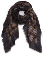 Marc Jacobs Women's Blur Check Silk & Cashmere Scarf