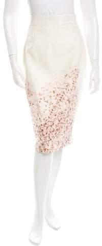Giambattista Valli Printed Silk Skirt w/ Tags