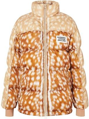 Burberry ECONYL deer print puffer jacket