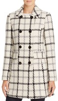 Kate Spade Plaid Double-Breasted Button Front Coat