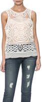 Willow & Clay Ivory Eyelet Tank