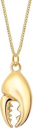 True Rocks 18K Gold-Plated Mini Crab Claw Pendant