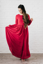 Shabby Apple Nantucket Maxi Dress Red