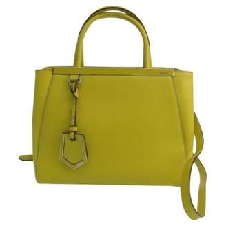Fendi 2Jours Yellow Leather Handbags