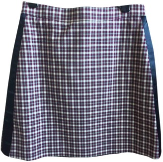 Burberry Purple Cotton Skirts
