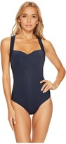 Jets Parallels Cross Back One-Piece Swimsuit Women's Swimsuits One Piece