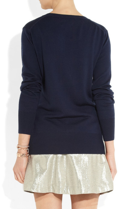 Markus Lupfer Loves Hillier sequined merino wool squirrel sweater