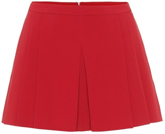 RED Valentino High-rise crepe shorts