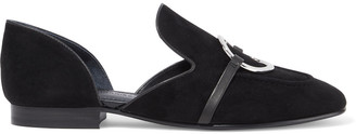 Sigerson Morrison Ianthe Ring-embellished Suede Loafers