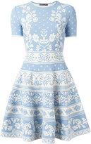 Alexander McQueen floral jacquard dress - women - Polyamide/Polyester/Spandex/Elastane/Viscose - XS
