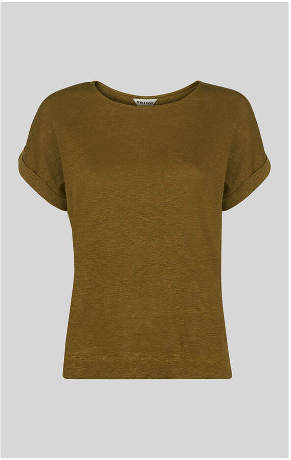 Whistles Relaxed Linen Tee