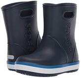 Crocs Crocband Rain Boot (Toddler/Little Kid) (Navy/Bright Cobalt) Kid's Shoes