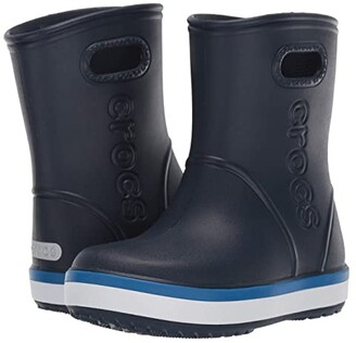 Crocs Crocband Rain Boot (Toddler/Little Kid) (Navy/Bright Cobalt) Kid's Shoes