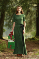 Shabby Apple River Glade Dress Green