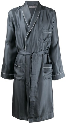 Canali Trimmed Wrap-Style Robe