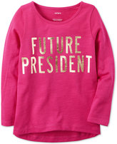 Carter's Future President Graphic-Print Cotton T-Shirt, Little Girls (2-6X) and Big Girls (7-16)
