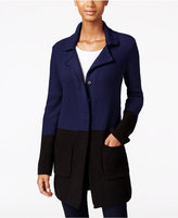 Style&Co. Style & Co. Colorblocked Sweater Jacket, Only at Macy's