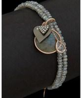 Meira T 14k Rose 6.41 Ct. Tw. Diamond & Labradorite Bracelet.