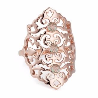 Neola Jade Rose Gold Cocktail Ring With Labradorite