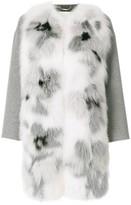 Fendi applique coat