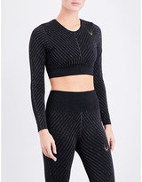 Lucas Hugh Stardust technical-knit cropped top