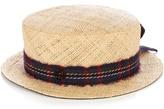 Maison Michel Auguste raffia-straw hat