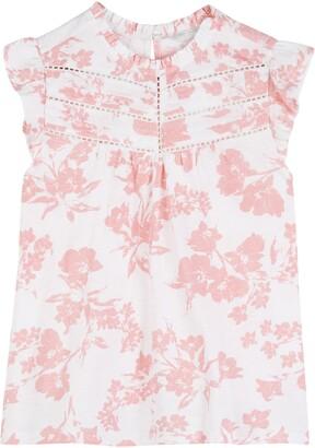 Lucky Brand Floral Flutter Sleeve Top