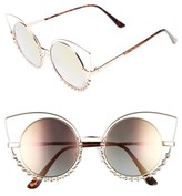 BP Women's 55Mm Studded Round Sunglasses - Gold