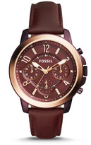 Fossil Gwynn Chronograph Wine Leather Watch