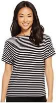 Lauren Ralph Lauren Petite Striped Jersey T-Shirt Women's T Shirt