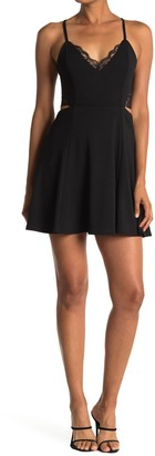 Lush Back Lace Flare Dress