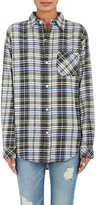 Current/Elliott WOMEN'S THE BOYFRIEND PLAID FLANNEL SHIRT