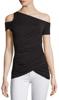 Bailey 44 Table Mountain Cold-Shoulder Ruched Top