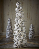 "Salzburg Creations White & Silver Fireworks 24"" Cone Tree"