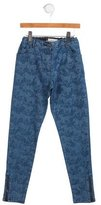 Stella McCartney Girls' Horse Print Skinny Jeans