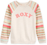 Roxy Stripe Logo Sweater, Big Girls (7-16)