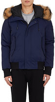 Kenzo Men's Down Hooded Bomber Jacket-NAVY