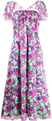 Pinko Floral Print Midi Dress
