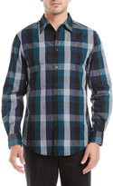 Perry Ellis Exploded Heather Plaid Sport Shirt