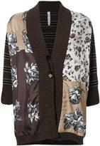 Antonio Marras contrast pattern cardi-coat - women - Silk/Nylon/Viscose/Virgin Wool - S