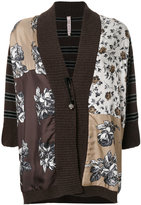 Antonio Marras contrast pattern cardi-coat