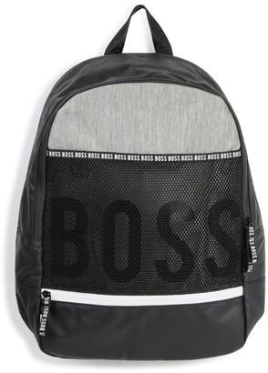 BOSS Kidswear Logo Mesh Backpack
