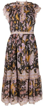 Ulla Johnson Floral Embroidered Shift Dress