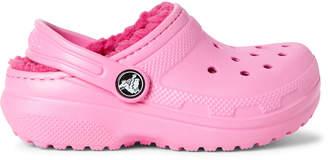 Crocs Toddler/Kids Girls) Classic Faux Fur-Lined Clogs