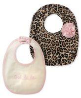 Kate Spade Baby Girl's Two-Piece Oh La La and Leopard Print Cotton Bib Set