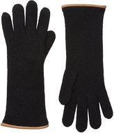 Barneys New York Women's Double-Knit Gloves-BLACK