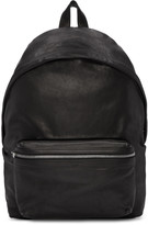 Saint Laurent Black Washed Leather City Backpack