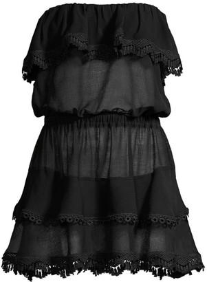 Ramy Brook Garcia Ruffle Flounce Cover-Up Dress