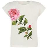 Dolce & Gabbana Dolce & GabbanaBaby Girls Ivory & Pink Rose Top